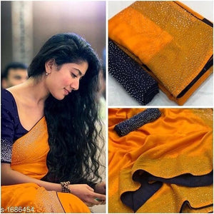 Embroidered Sana Silk Saree MDS-25-Yellow