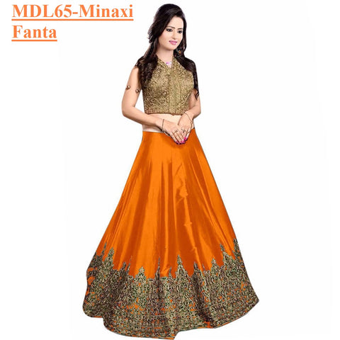 Designer Embroidered Semi-stitched Party Wear Lehenga Choli- Minaxi Fanta