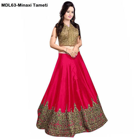Designer Embroidered Semi-stitched Party Wear Lehenga Choli- Minaxi Tameti