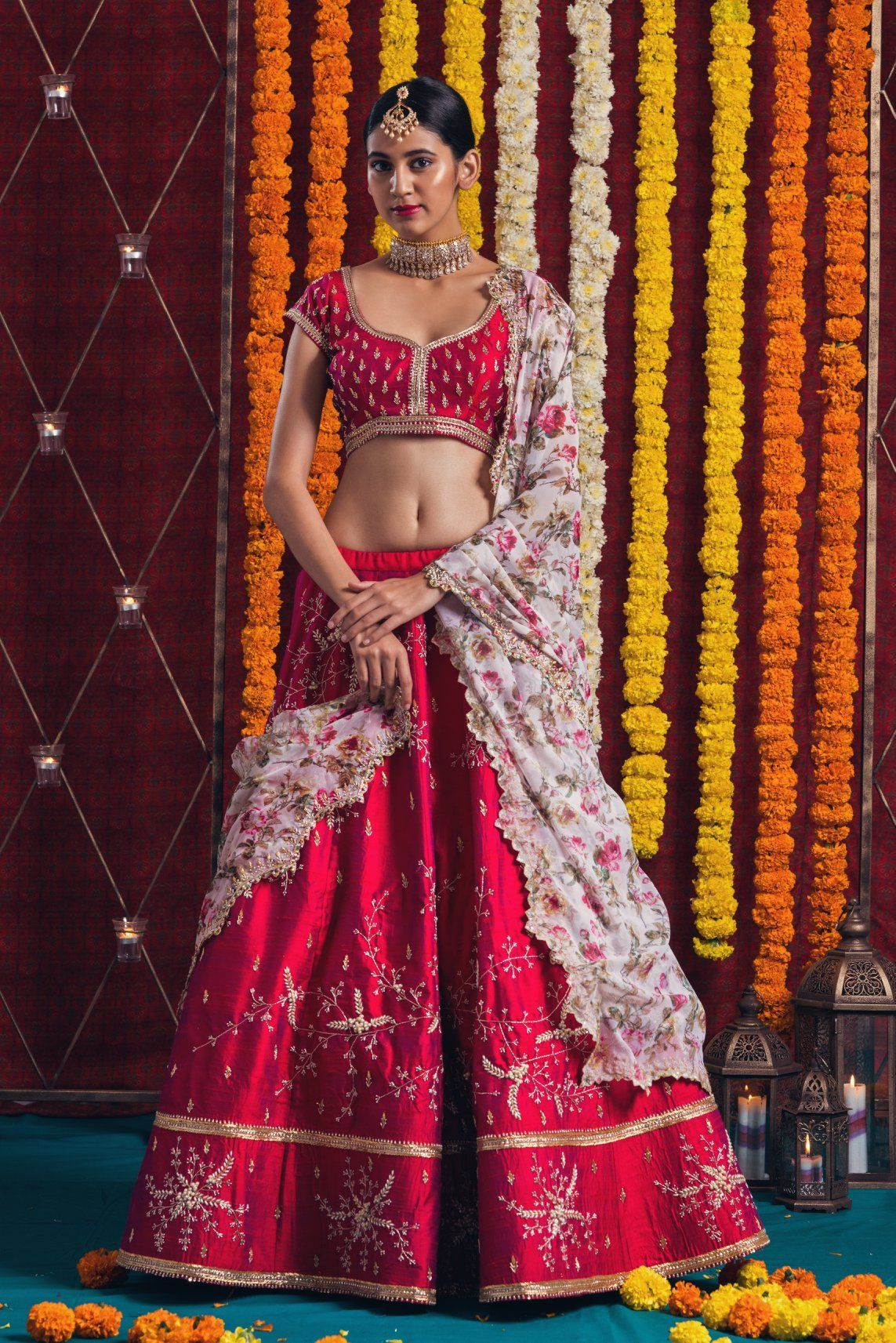 NEW LOOK WEDDING WEAR LEHENGA CHOLI - NV-009