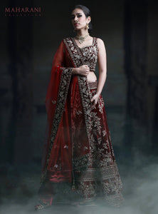 NEW EXCLUSIVE WEDDING WEAR LEHENGA CHOLI - NV-012