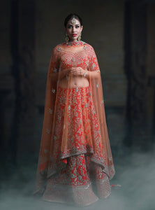 BEAUTIFUL WEDDING WEAR LEHENGA CHOLI - NV-014