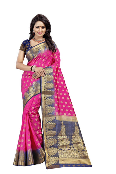 Pan Butti Pink Color Pure Banarasi Silk Saree