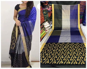 Black Colour Soft Silk Designer Saree UK30278