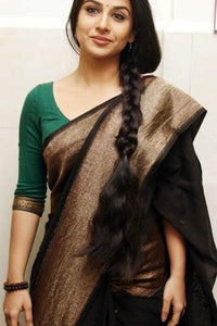Brown Color Soft Silk Designer Saree UK5001