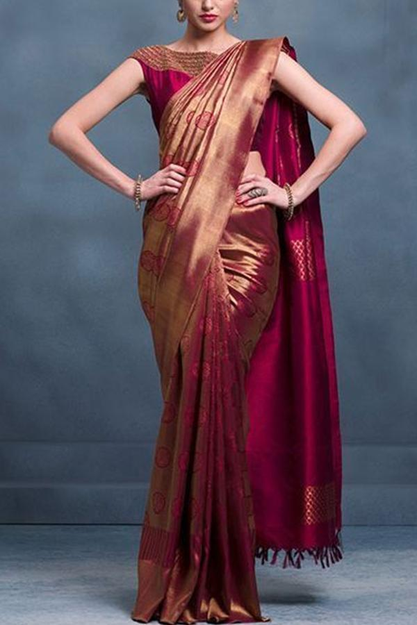 Maroon Color Soft Silk Designer Saree UK5064