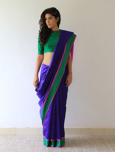 Blue Colour Soft Silk Designer Saree UK2179
