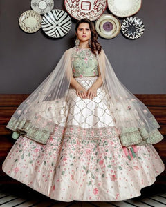 Embroidered Semi-stitched Lehenga Choli for Party wear