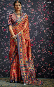 Multi Colour Designer Laila Cotton SIlk Saree 1003