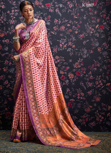 Multi Colour Designer Laila Cotton SIlk Saree 1007