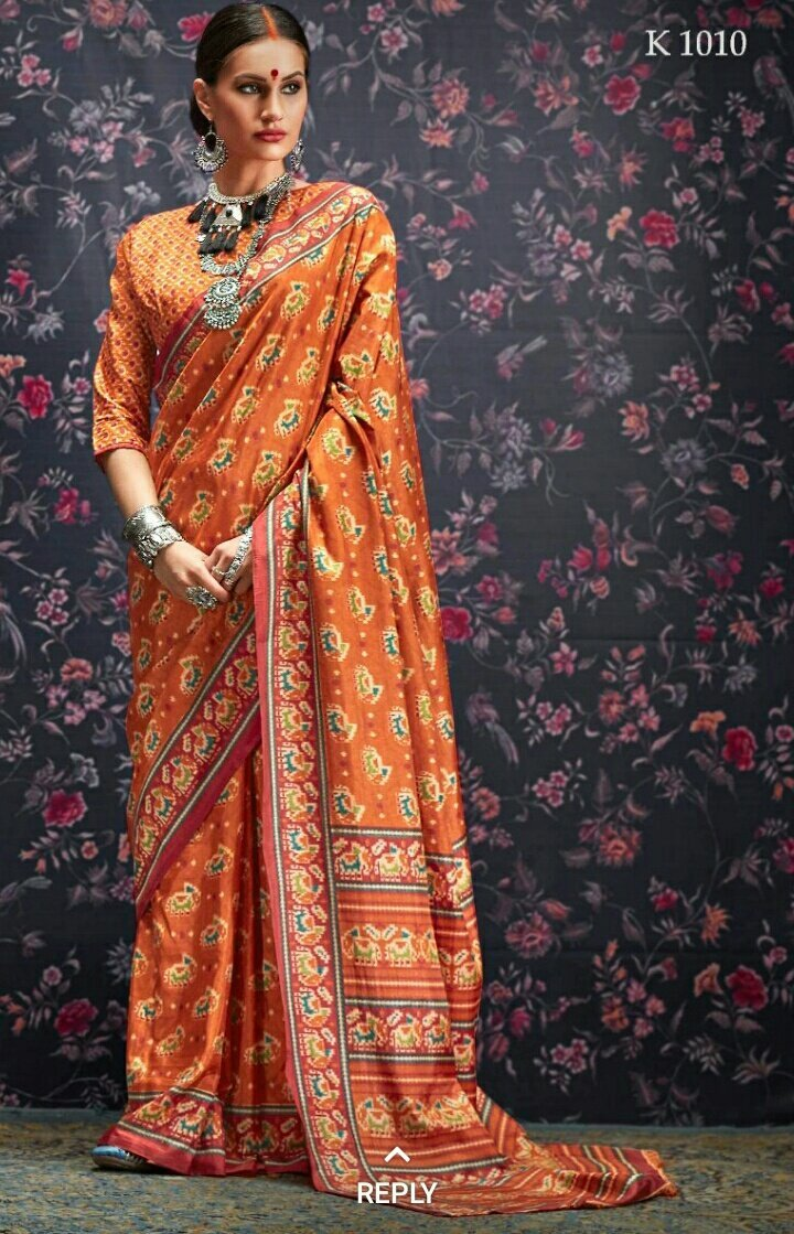 Multi Colour Designer Laila Cotton SIlk Saree 1010