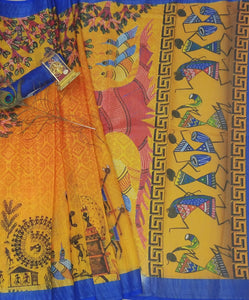 Awesome Multicolor Linen Digital Printed Saree MS-1337