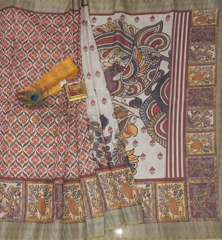 Beautiful Multicolor Linen Digital Printed Saree MS-1340