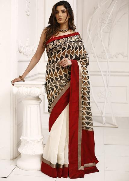Linen Digital Printed Saree MS-1494