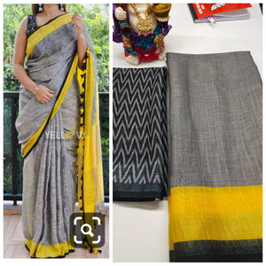 Designer  Linen Digital Printed Saree MS-1633