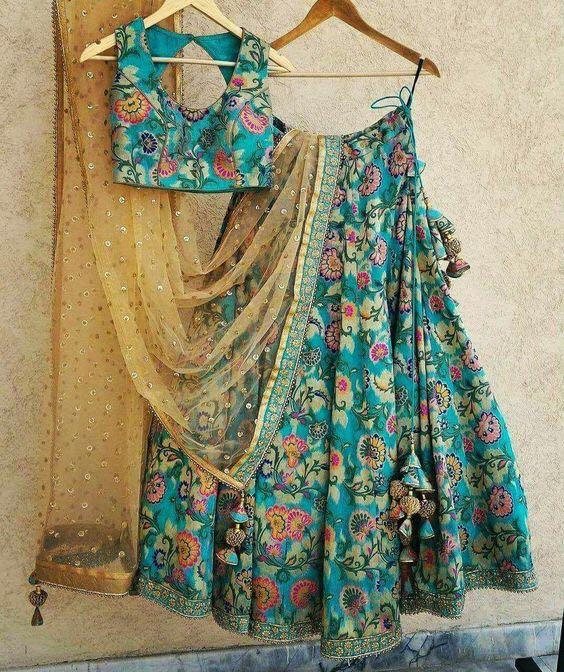 Awesome Flower Printed Semi-Stitched Lehenga Choli