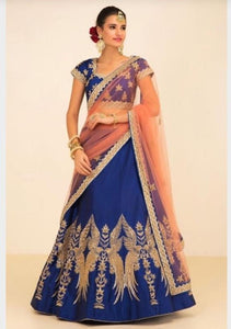 Beautiful Blue Colour Embroidery Lehenga Choli