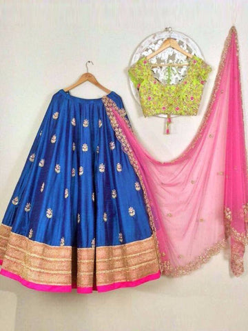 Outstanding Royal Blue Lehenga Choli