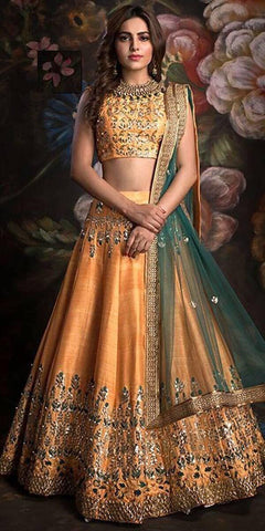 New Look Wedding Wear Lahenga Choli - JN-002
