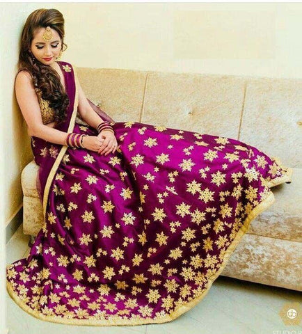 Fancy Pink Color Embroidered Semi-stitched Party wear Lehenga Choli