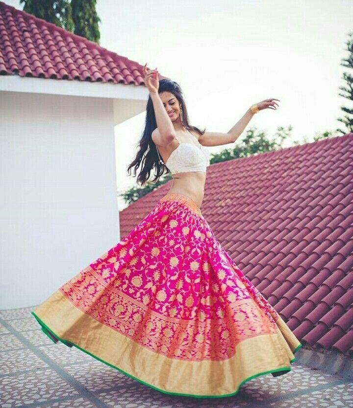 Charming Pink Color Embroidered Semi-stitched Party wear Lehenga Choli