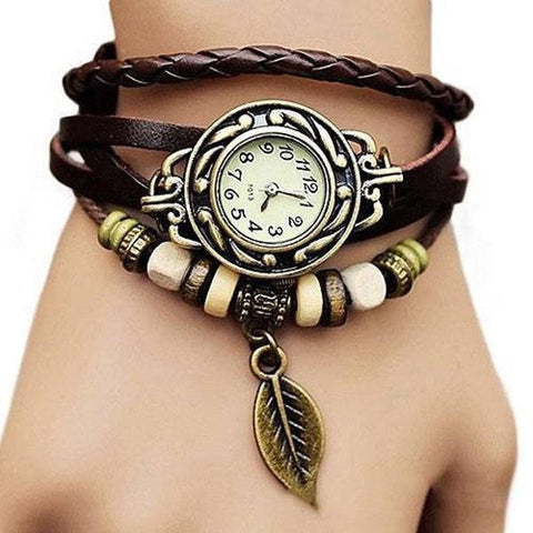 Hawaii Leaf Vintage Ethnic Bracelet Leather Watches Best Selling
