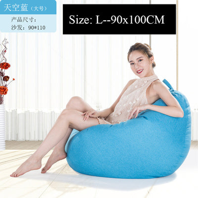 Surprising Bean Bag Sofa Cover Chairs Pouf Puff Linen Cloth Lazy Beanbag Sofas Without Filling Lounger Seat Tatami Living Room Furniture Dailytribune Chair Design For Home Dailytribuneorg