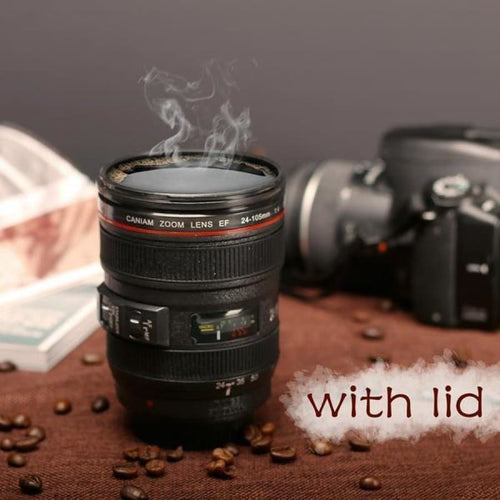 400 ML Coffee Mug 24-105mm Lens (with lid) - mug