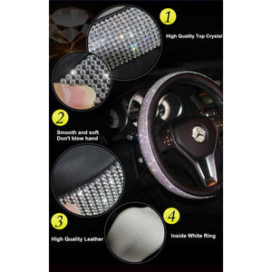 Crystal Rhinestone Car Wheel Covers - BUY 2 GET 1 FREE - car
