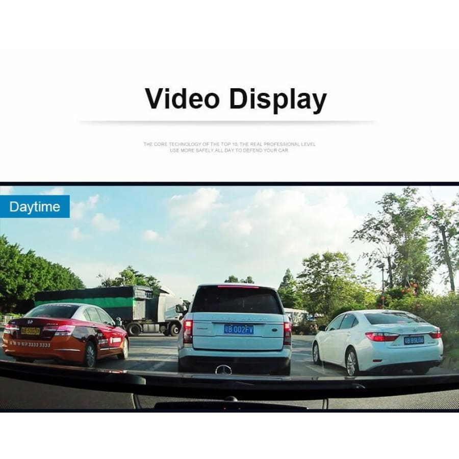 Dual Lens Car Camera Full HD 1080P