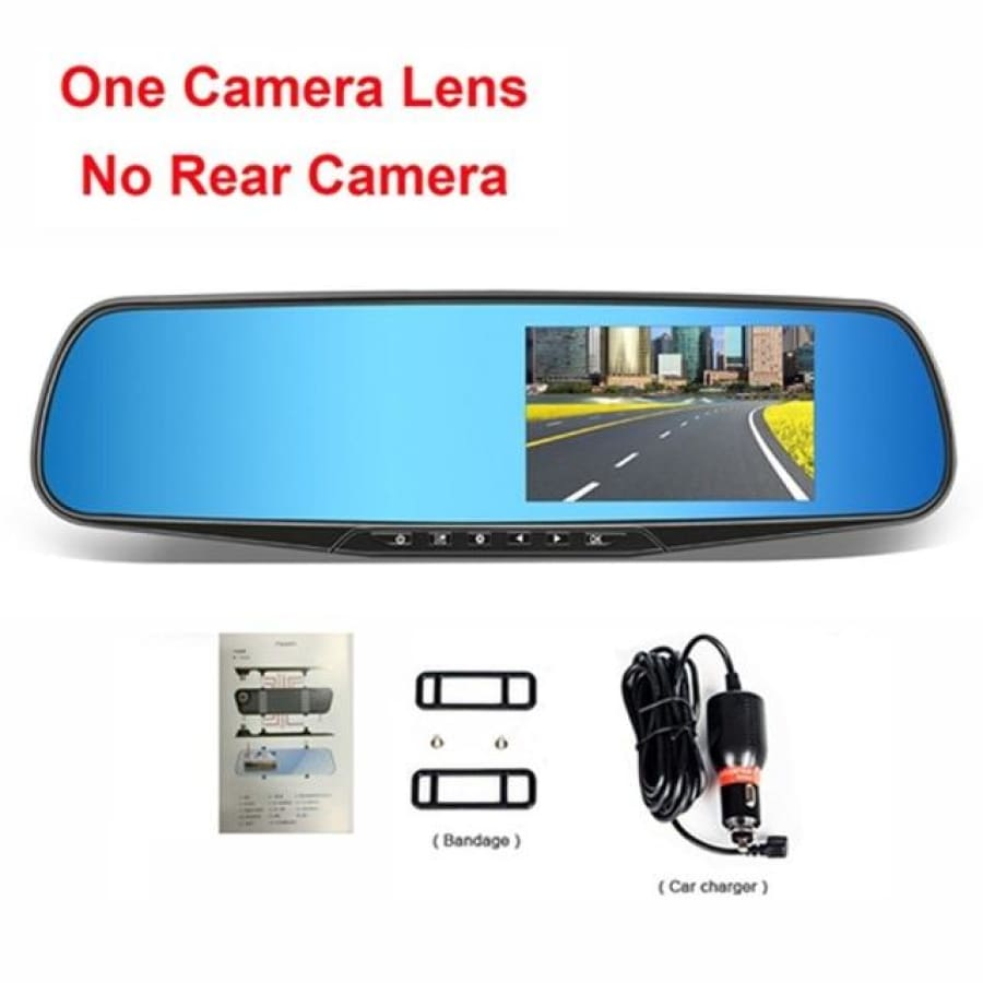 Dual Lens Car Camera Full HD 1080P - One Camera Lens / China / Without Card