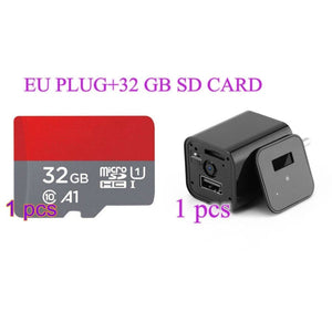 HD 1080P Hidden Camera USB Wall Charger - EU Plug / 32 GB - camera
