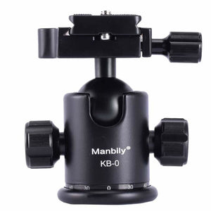 Manbily C-222 Carbon fiber Portable Professional DSLR Camera Monopod & M1 Tripod Base & KB-0 Aluminum Tripod Ball Head Max:65 - KB-0