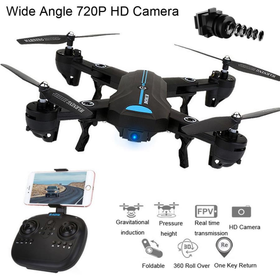 Mini A6 Foldable With Wifi FPV HD Camera 2.4G 6-Axis RC Quadcopter Drone Toys - drone
