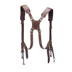 Camera Strap Leather DSLR Strap Double Shoulder Strap Photography Accessories Camera Harness Strap