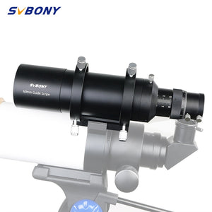 "SVBONY 60mm 60240 Compact Deluxe Guide Scope Finderscope w/1.25"" Double Helical Focuse for Monocular  Astronomy Telescope F9177B"