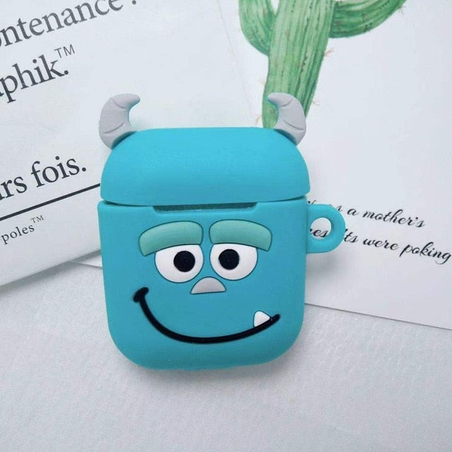 Wholesale Cartoon Wireless Bluetooth Earphone Case for Apple AirPods 1/2 Silicone Charging Headphones Cases for Air Pods 2 Case