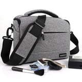 DSLR Camera Bag Fashion Polyester Shoulder Bag Camera Case For Canon Nikon Sony Lens Pouch Bag Waterproof Photography Photo Bag