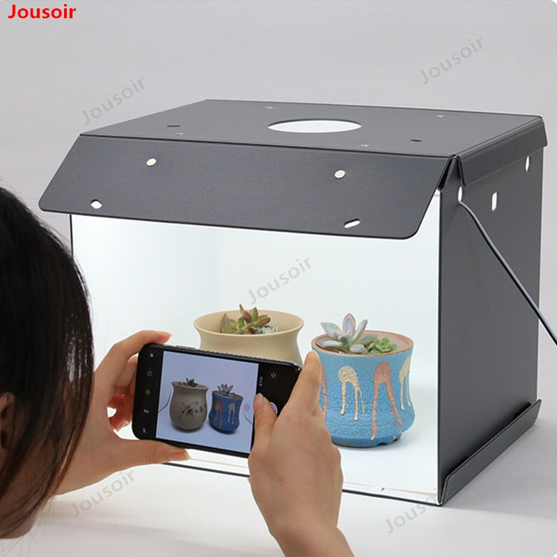 New SANOTO Mini Photo Studio Box Photography Backdrop portable Softbox LED Light Photo Box fold Photo Studio Soft Box CD05 T03 Y