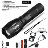 Z45 Led Flashlight Ultra Bright Waterproof MINI Torch T6/L2/V6 zoomable 5 Modes 18650 rechargeable Battery for camping tactical