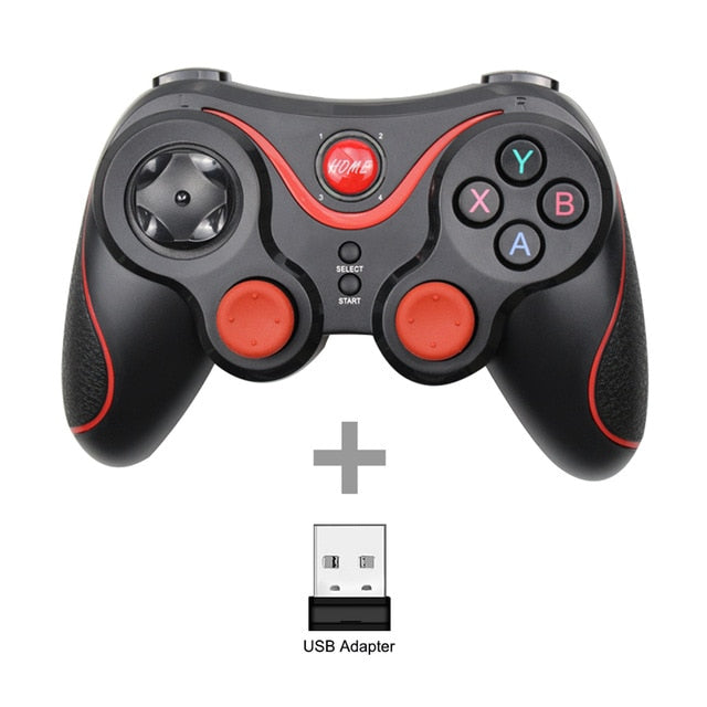 Wholesale Terios T3 X3 Wireless Joystick Gamepad Game Controller bluetooth BT3.0 Joystick For Mobile Phone Tablet TV Box Holder