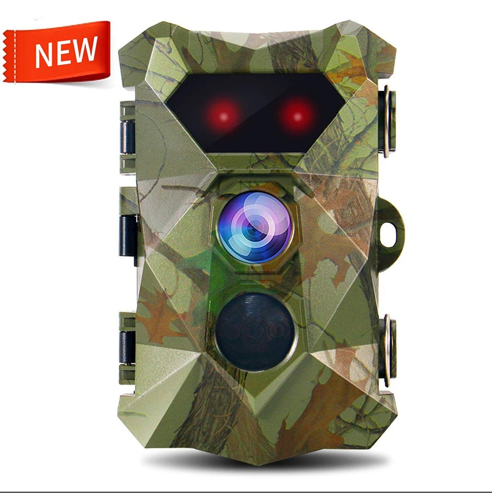 "PPDDHKK 16 Mega Pixel 1080P FHD Video 2.4"" TFT LCD Screen IR Hunting Traps Wildlife Trail Camera Hunting Camera Night Vision"