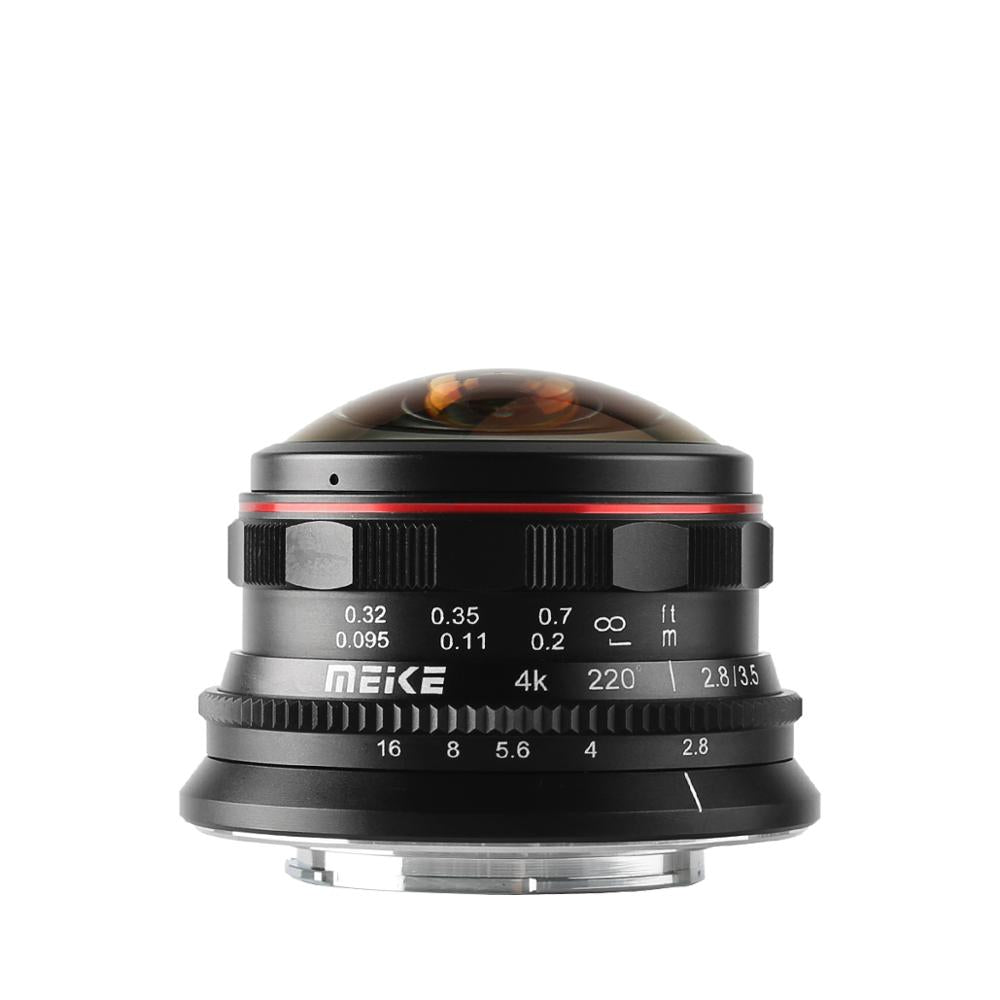 Meike 3.5mm f2.8 Wide Angle Manul Focus Fisheye Lens for M4/3 MFT mount such as Olympus Panasonic Lumix GH5