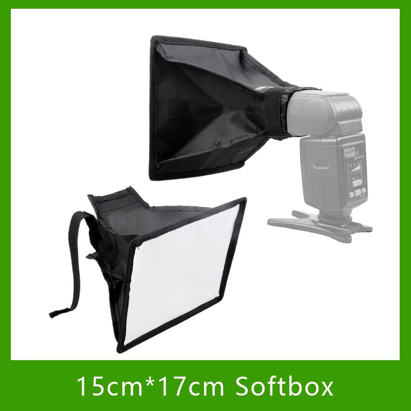 Studio Photo Accessories Universal External 15cm*17cm Foldable Flash Diffuser Softbox Reflector For All DSLR Camera Speedlites