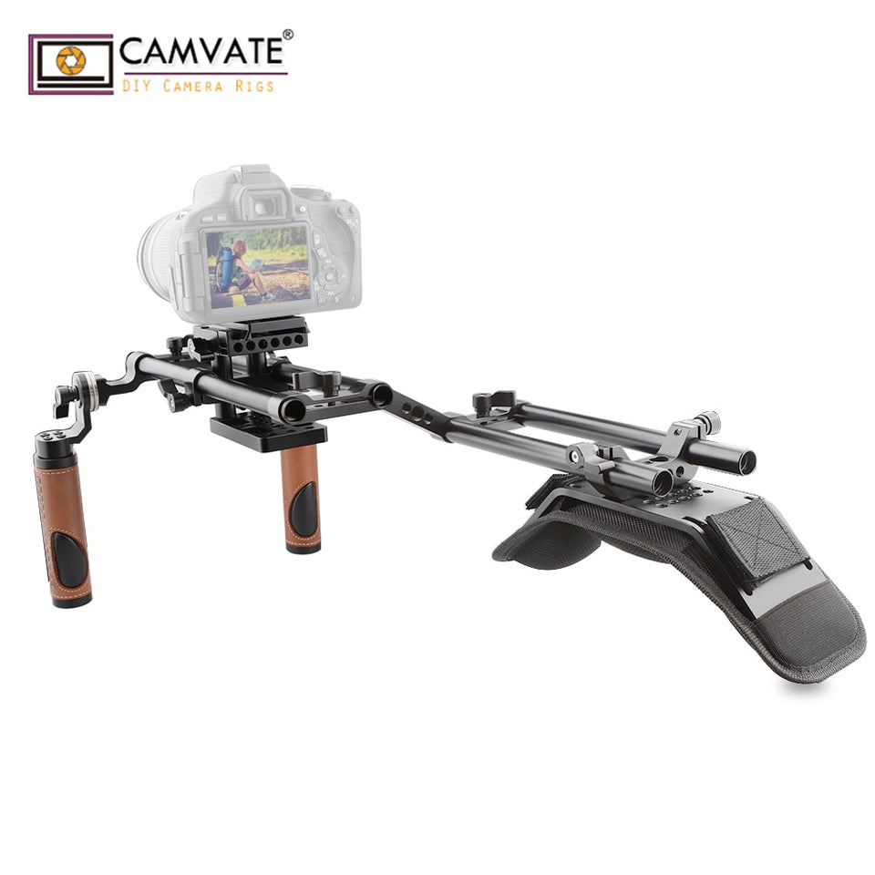 CAMVATE Ergonomic Design Good Dslr Shoulder Rig for DSLR and Camcorder C1769 camera photography accessories