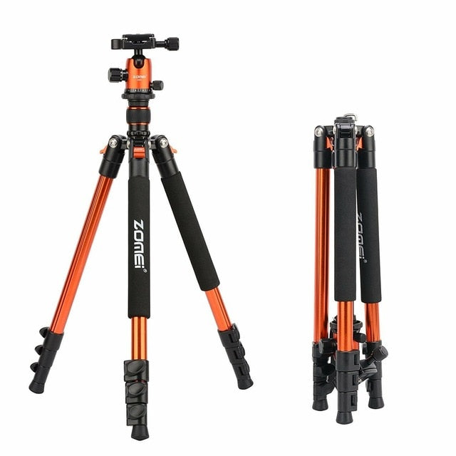 Zomei Professional Q555 Camera tripod Lightweight Aluminum Camera Tripod Stand with Ball Head for Canon Nikon Sony DSLR camera