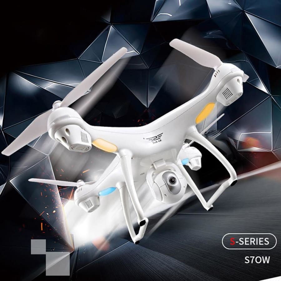 S70W 2.4GHz GPS FPV Drone Quadcopter with 1080P HD Camera Wifi Headless Mode - drone