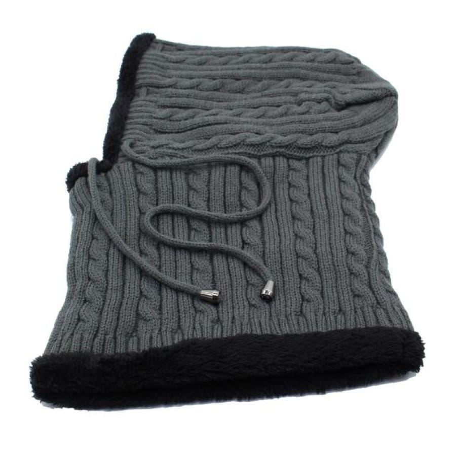 Unisex Winter Hat and Scarf Special Edition - gray - winter