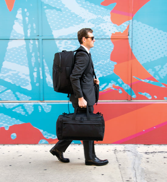 Man with Mercury Luggage Products