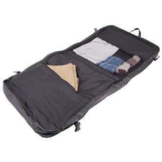 highland series Executive Garment Bag, opened showing contents